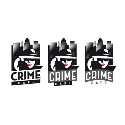 Crime logo with the title 'Crime Cafe'