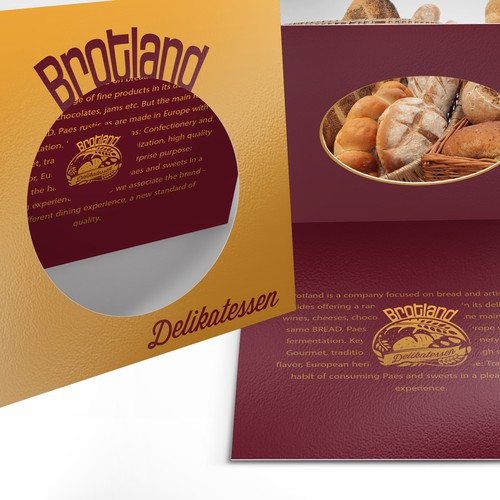 "Crown brand with the title 'Logo proposal for ""Brotland Delikatessen"" '"