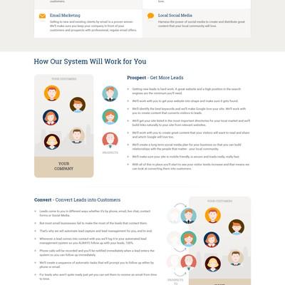 Web design concept for an Internet company