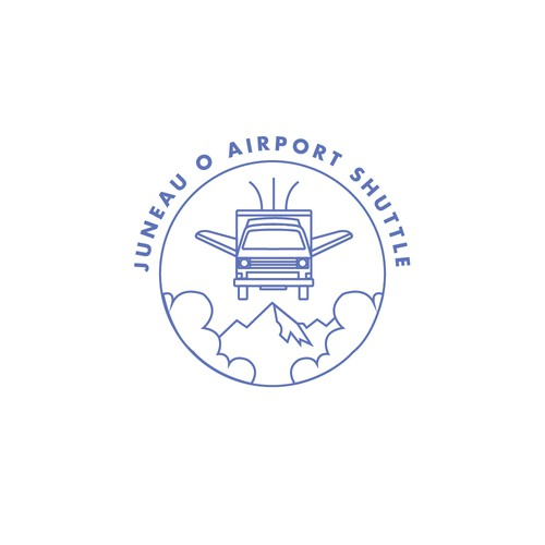Shuttle design with the title 'Logo design for an airport shuttle company'