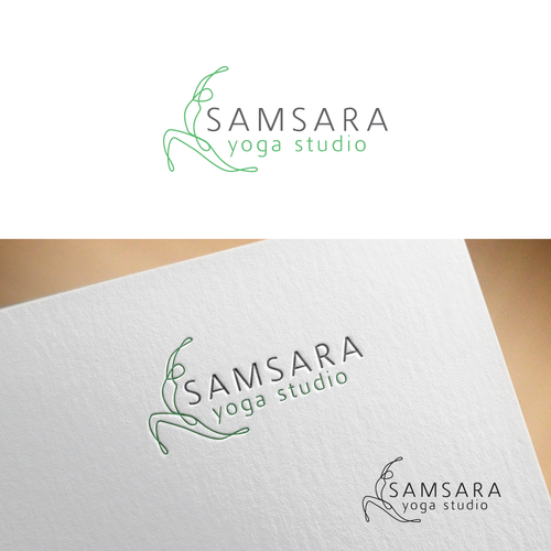 Yoga studio design with the title 'Yoga logo for SAMSARA yoga studio'