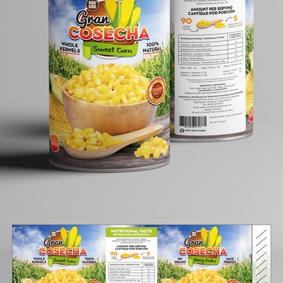 Canned Sweet Corn Design