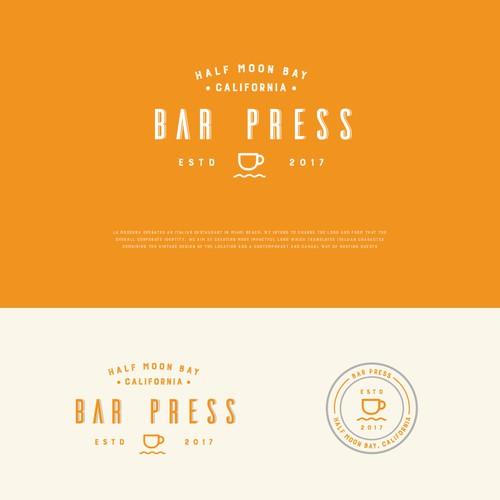 California logo with the title 'Bar Press logo design'