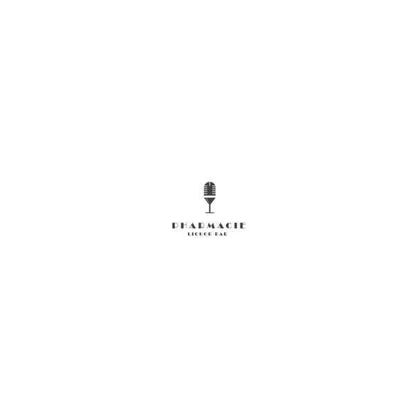 Bar and restaurant logo with the title 'Pharmacy Liquor Bar'