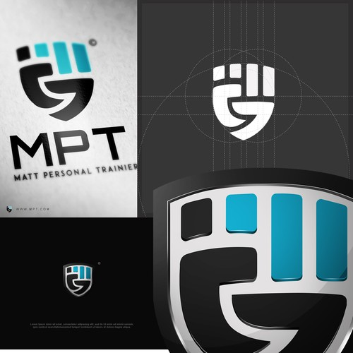 3D abstract logo with the title 'MATT Personal Training'