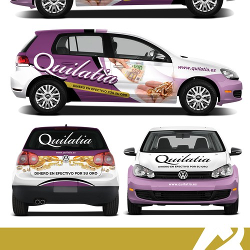 Car graphics design with the title 'Car Wrap for Quilatia'