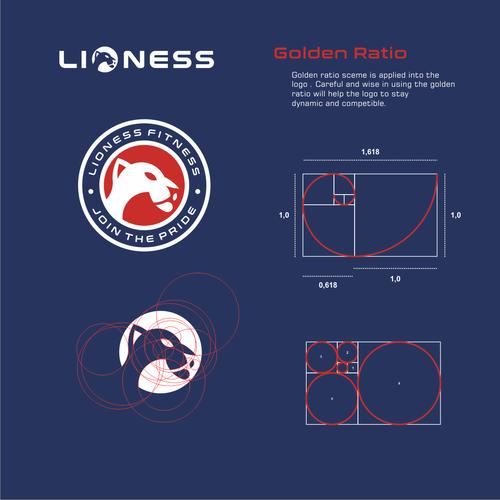Fibonacci design with the title 'LIONESS'