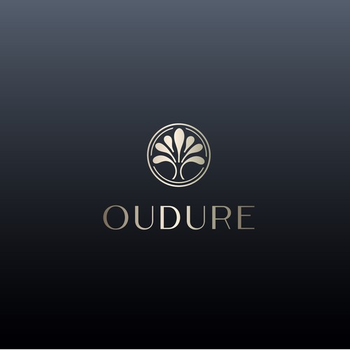Perfume logo with the title 'Modern, light and positive design for parfume manufacture'