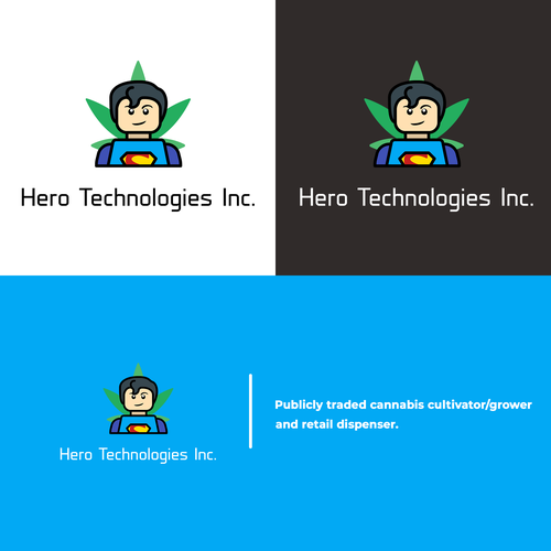 Superman logo with the title 'Hero Technologies Inc. / Logo Design Contest'