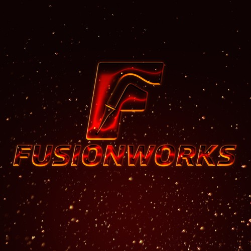 Welding logo with the title 'Welding logo for Fusionworks'