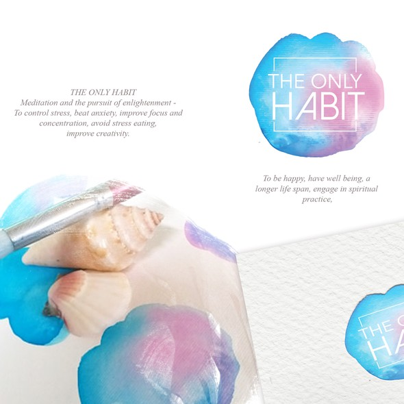 Blue and pink logo with the title 'THE ONLY HABIT'