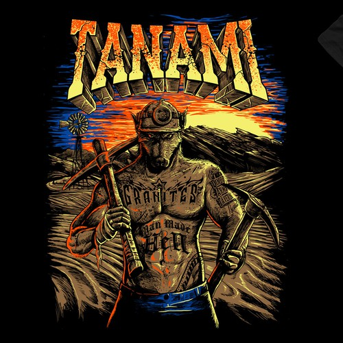 Badass t-shirt with the title 'tanami'