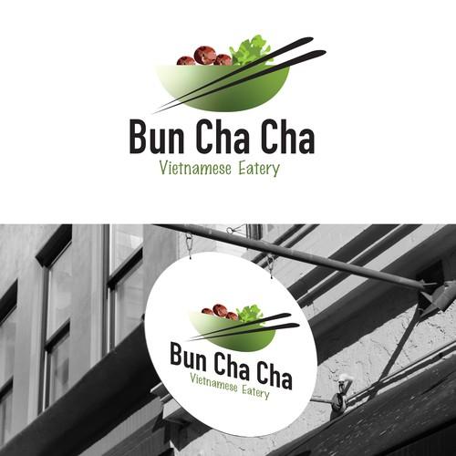 Vietnamese restaurant logo with the title 'Logo design for a Vietnamese Eatery'