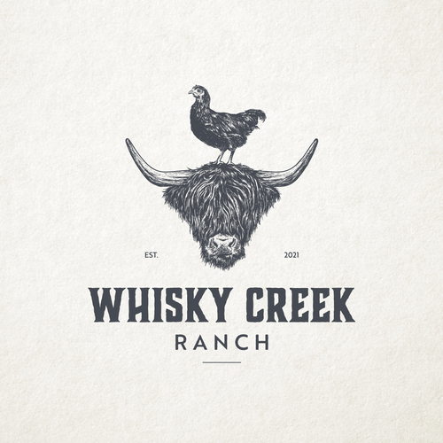 Scottish design with the title 'Whisky Creek Ranch'