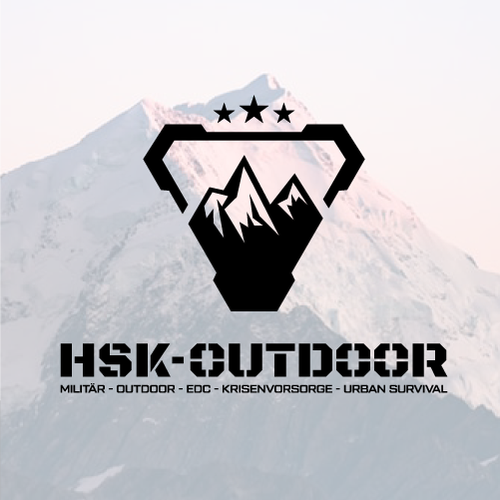 Disaster logo with the title 'Logo Design for HSK-Outdoor'