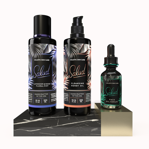 Cosmetics design with the title 'SALUD'