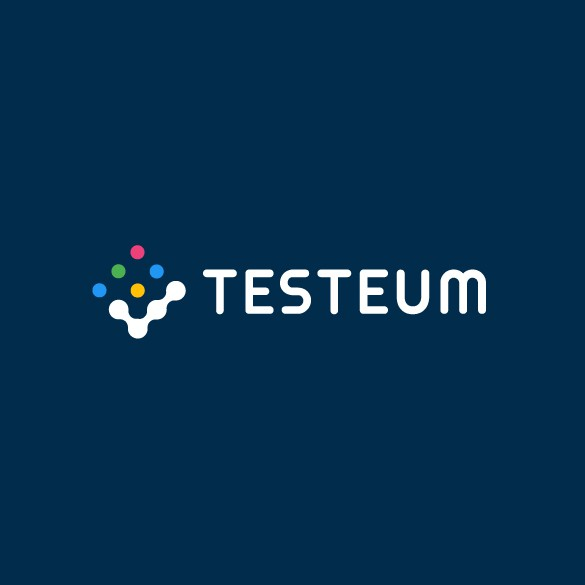 Lab testing logo with the title 'Testeum Logo'