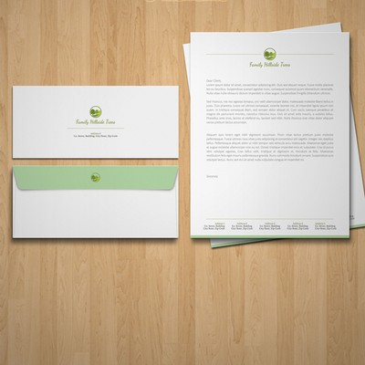 Simply Classic logo with Stationary Design