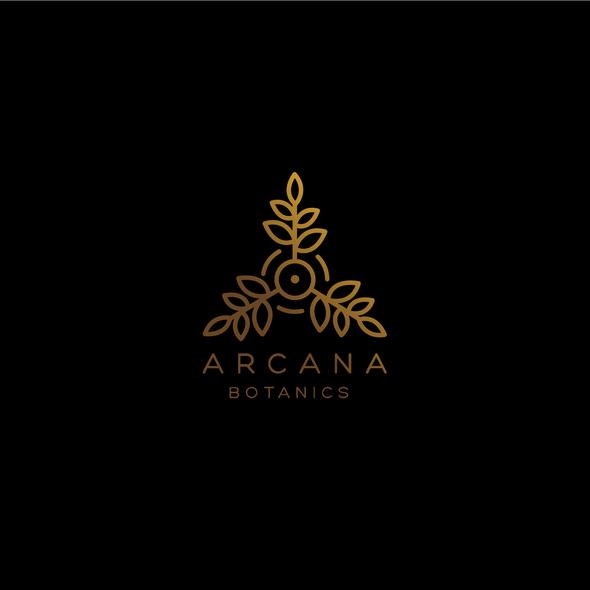 Botanical design with the title 'Line art logo concept'
