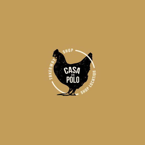 Takeaway logo with the title 'Casa De Polo'