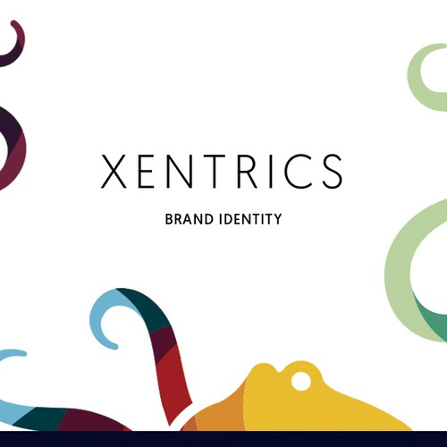 Letterhead design with the title 'Xentrics Brand Identity'