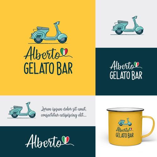 Gelato design with the title 'Logo design for an Italian gelato bar'