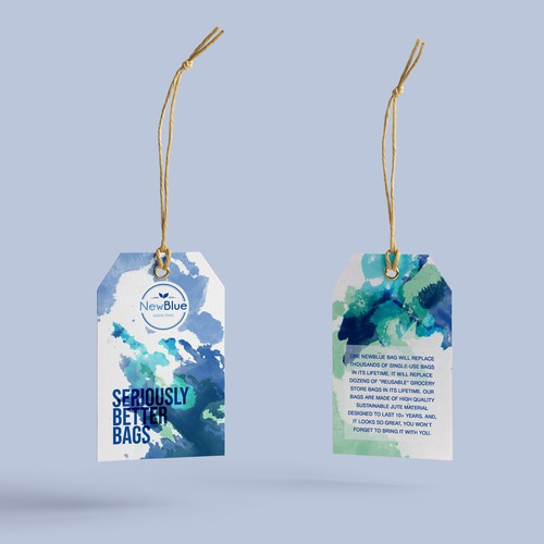 Hangtag design with the title 'Hang tag for ecological bags'