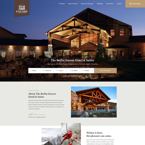 Tourism design with the title 'Hotel webdesign'