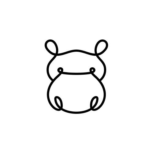 Hippo design with the title 'Huduma Health'