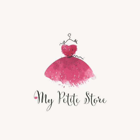 Precious logo with the title 'Petite dress logo'