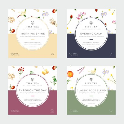 Design a packaging box for a new Herbal Health Tea