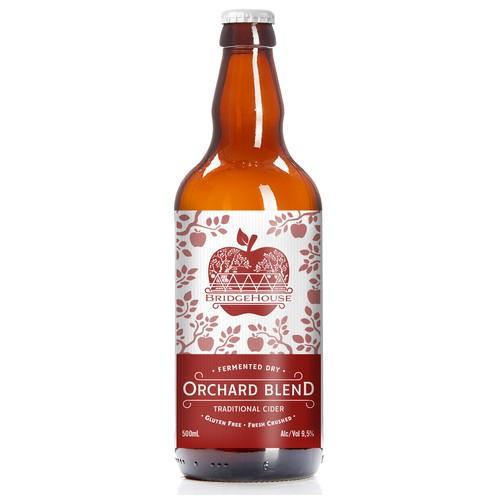 Cider label with the title 'Cider Label Design'
