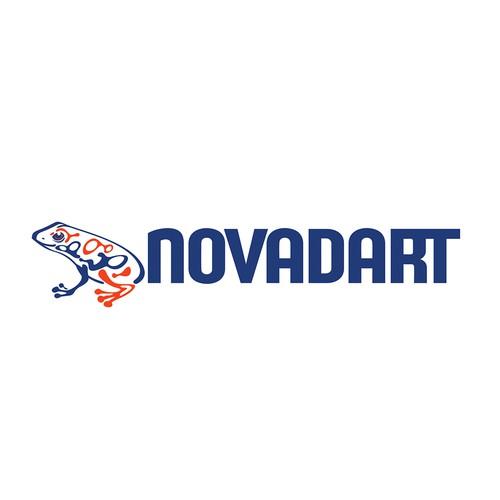 Frog design with the title 'Logo for Novadart'