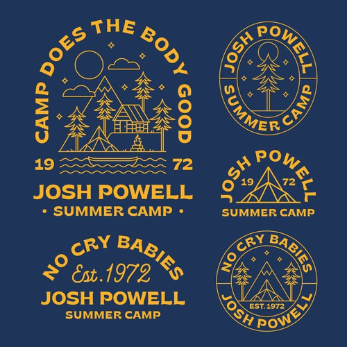 Camping design with the title 'Josh Powell Camp'