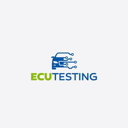 Auto design with the title 'ECUtesting Logo'