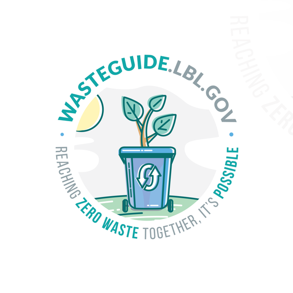 Environmental brand with the title 'Logo for WasteGuide.lbl.gov'
