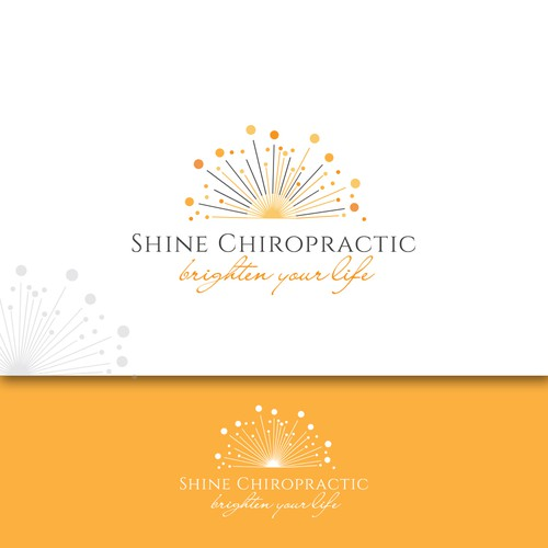 Clinic logo with the title 'A logo that would convince you to brighten your life:)'