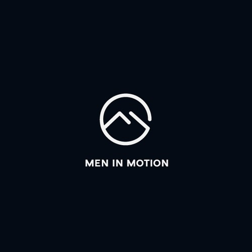 Motion logo with the title 'Men in motion logo'