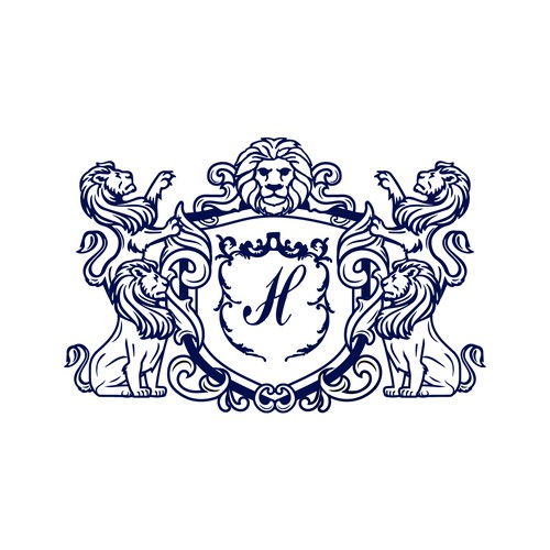 Family crest logo with the title 'Solemn family'