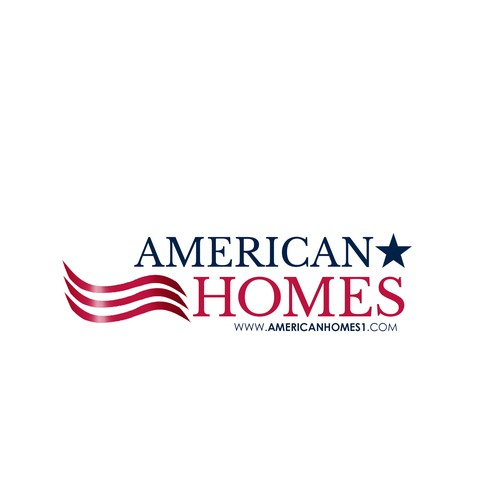 American flag logo with the title 'Logo for Real Estate Agency'