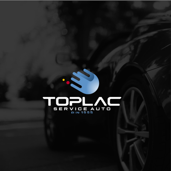 Car painting logo with the title 'Logo for TopLac service auto'