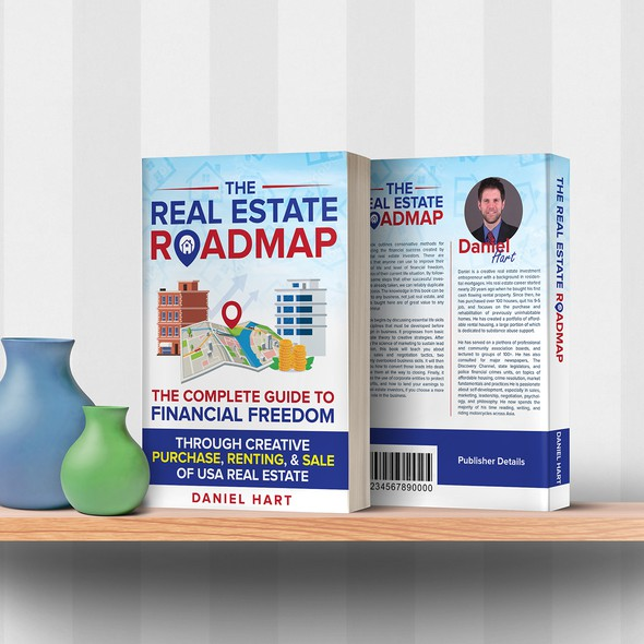 Roadmap design with the title 'Real Estate Roadmap'