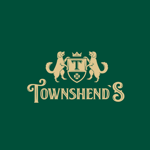 Clover logo with the title 'Townshend`s pub logo'