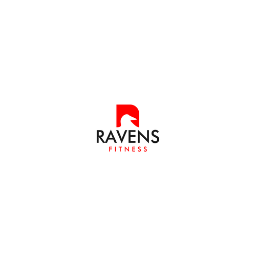 Raven design with the title 'Simple logo for fitness company'