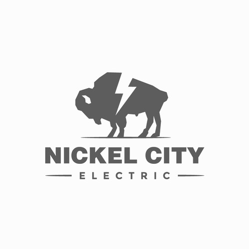 Lightning bolt design with the title 'Nickel City Electric'
