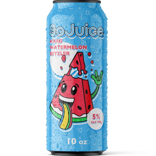 Character label with the title 'Concept for a Watermelon Alcoholic Beverage'
