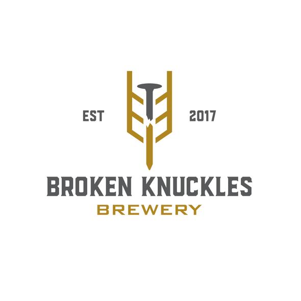 Broken logo with the title 'Broken knuckles brewery'