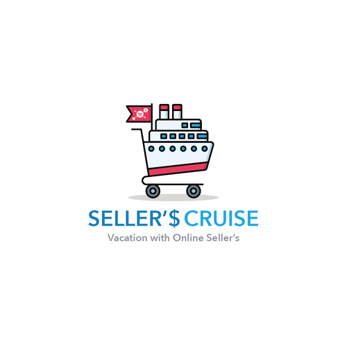 Cruise ship logo with the title 'Sellers Cruise'