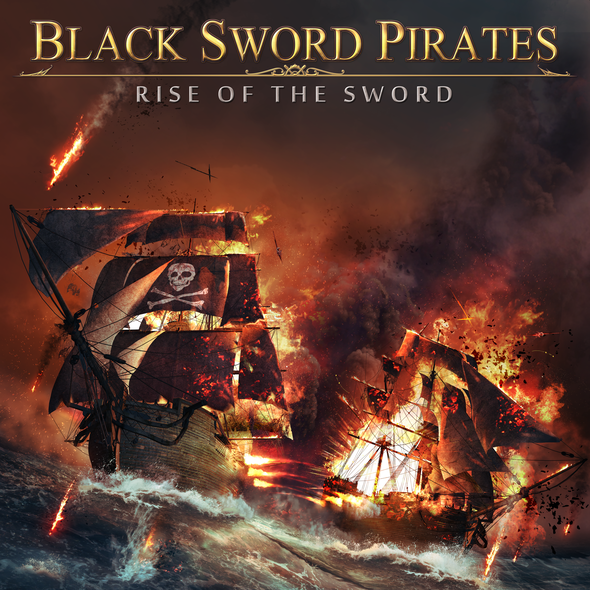 Pirate artwork with the title 'Album Cover of Black Sword Pirates'