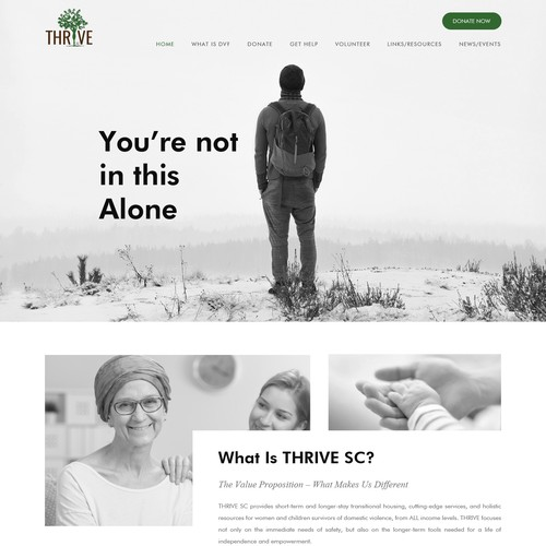 Nonprofit website with the title 'Charity'